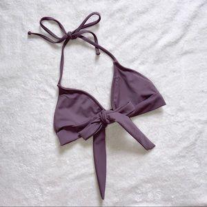 Dippin' Daisy's Mauve Tie Front Bikini Top